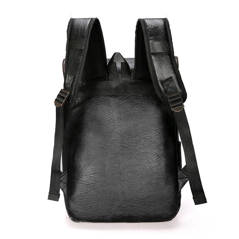 Image 2 - DIDA BEAR  Men Backpack Leather Bagpack Large laptop Backpacks Male Mochilas Retro Schoolbag For Teenagers Boys Travel BagBackpacks   -