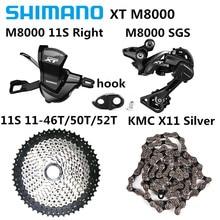 SHIMANO XT SL M8000 הרי אופני 11 מהירות RD M8000 מנעול לאחר השמש 11 מהירות גלגל תנופה KMC X11 מהירות שרשרת shift ערכת