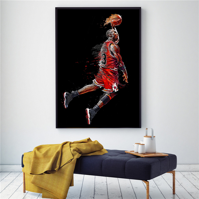 Abstract MJ Fly Dunk Poster 6