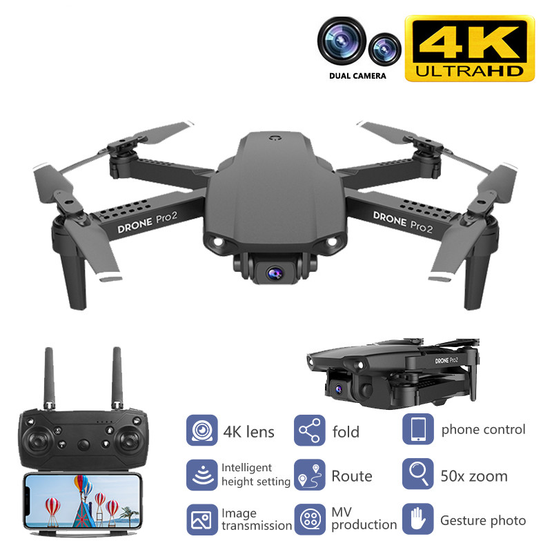 Best Mini Drone 4K 1080P HD Double Camera Video WiFi Fpv Air Pressure Altitude Hold Durable Foldable Drone Quadcopter Drone Toys