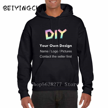 цена на Men's DIY lOGO Hoodie Sweatshirts Winter Women Casual Harajuku How You Doing Hooded Sweatshirts Streetwear Hoodie Black Hoodie
