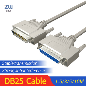 DB25 Cable Connector Male Male to Female For Computer Printer DB 25Pin Extension Parallel Converter 1.5M 3M 5M 10M hot bi directional parallel interface communication usb to 25 pin db25 parallel printer cable adapter cord converter