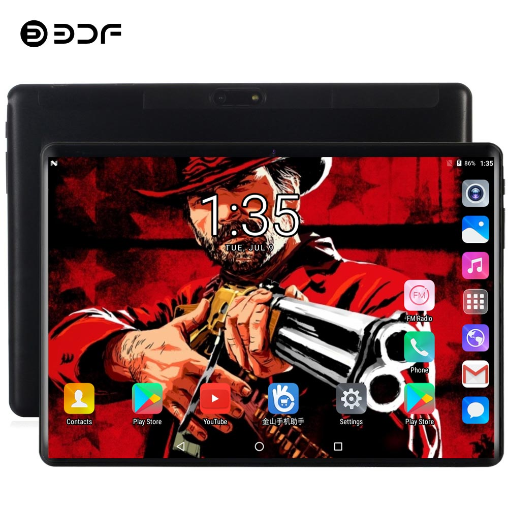 BDF New 10 Inch Android 9.0 Tablet Pc 8GB/128GB Tablet 10/Ten Core 4G LTE Phone Mini Computer Tab 7 8 9 10 Inch Tablet Android