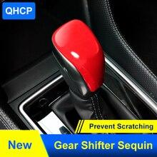 QHCP Schaltknauf Abdeckung Inneren Getriebe Shift Kappe Borte Aufkleber ABS Backen Farbe Carbon Faser Stil Zubehör Für Subaru Forester 2019
