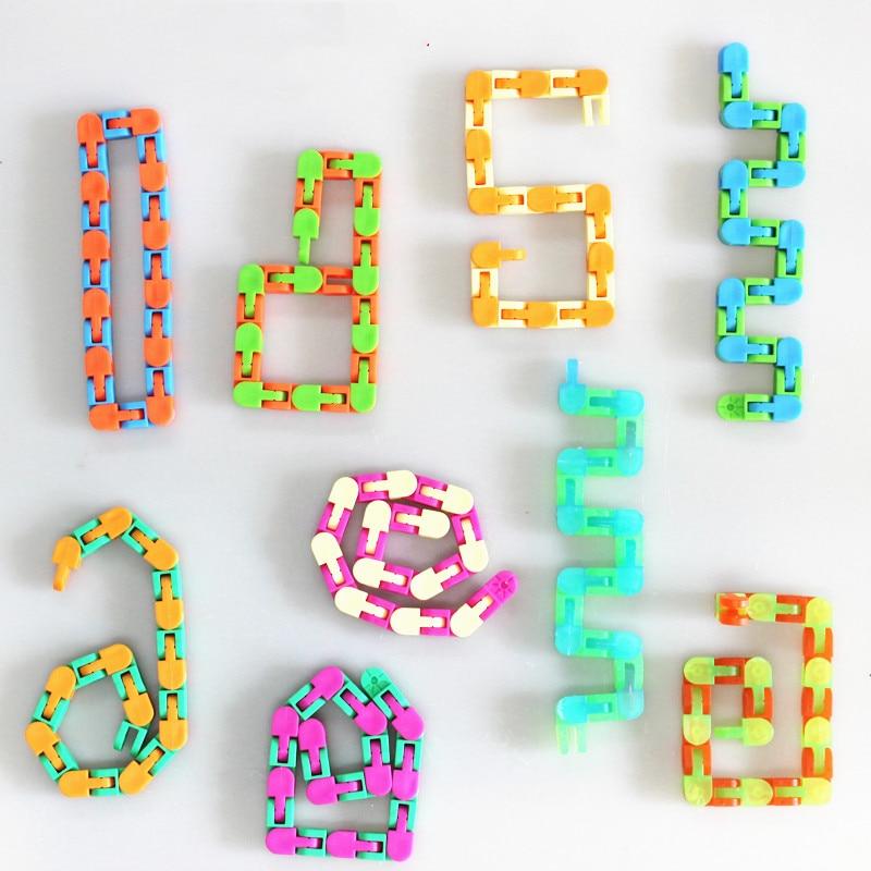 Toy Bracelet Fidget Spinner Chain Educatiaonal-Toys Reliever Adult Children for Kids img5
