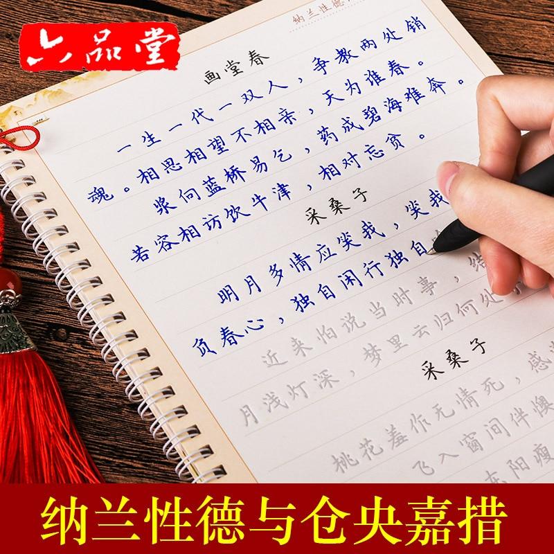 Liu Pin Tang 2pcs/set Pretty Girl Zanhua Groove Calligraphy Copybook Erasable Pen Regular Script Adults Art Writing Books