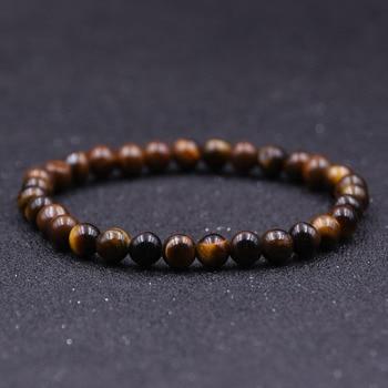 Minimalist 4mm 6mm 8mm 10mm Tiger eyes Beads Bracelet Men Charm Natural Stone Braslet For Man Handmade Casual Jewelry Pulseras 4
