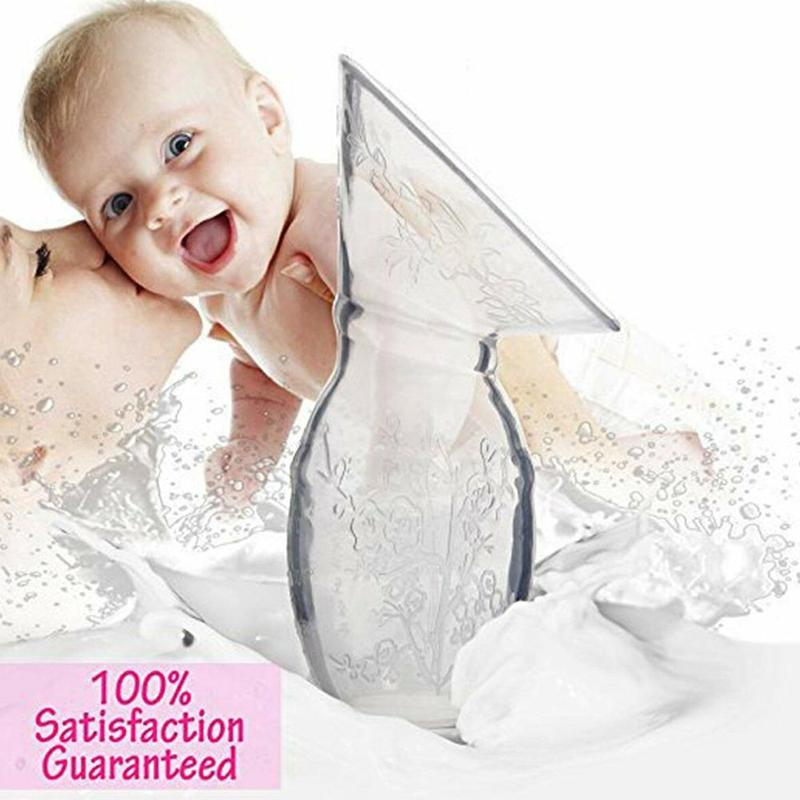 Full Silicone Breast Pump Manual Breast Pump Partner Milking Anti-spill Breast Milk Collector Automatic Collection Breastfeeding