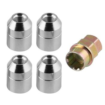 VODOOL 4Pcs Universal M12x1.5mm Car Wheel Nuts 60 Degree Tapered Security Anti Theft Nut Bolts Tyre Accessories Set With 1 Key image