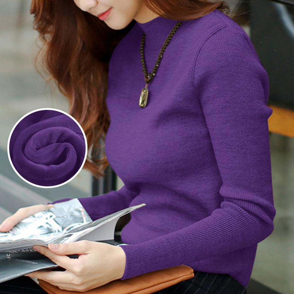 2020 Autumn Winter Women Pullovers Sweater Knitted Elasticity Casual Jumper Fashion Slim Turtleneck Warm Female Sweaters Pullovers    - AliExpress