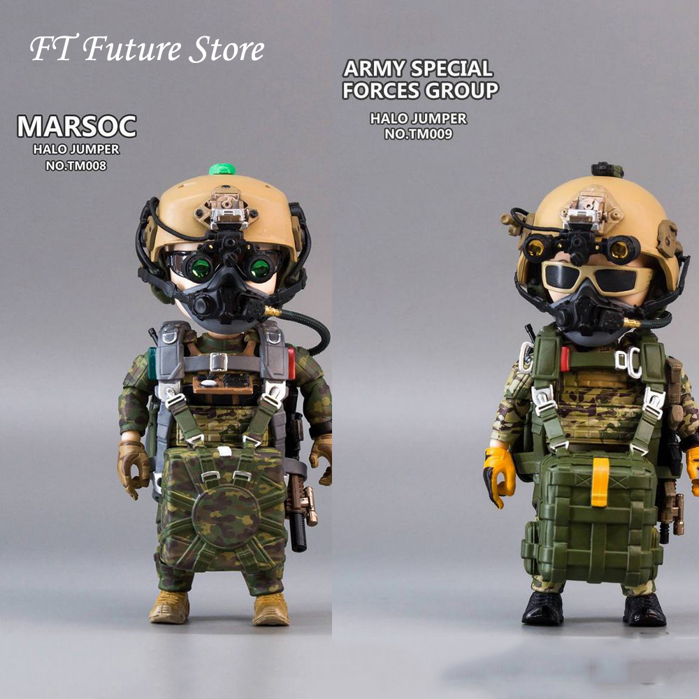 In Stock <font><b>5</b></font> Inches TM008/TM00912.5cm TRICKYMAN NEW SERIES ARMY SPECIAL FORCES GROUP <font><b>HALO</b></font>/ ARSOC <font><b>HALO</b></font> JUMPER Action Figure Model image