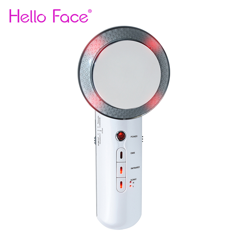 Ultrasound Body Slimming Machine 3 in 1 EMS Infrared Ultrasonic Face Lifting Massager Weight Loss Tools for Belly Waist Leg Arm