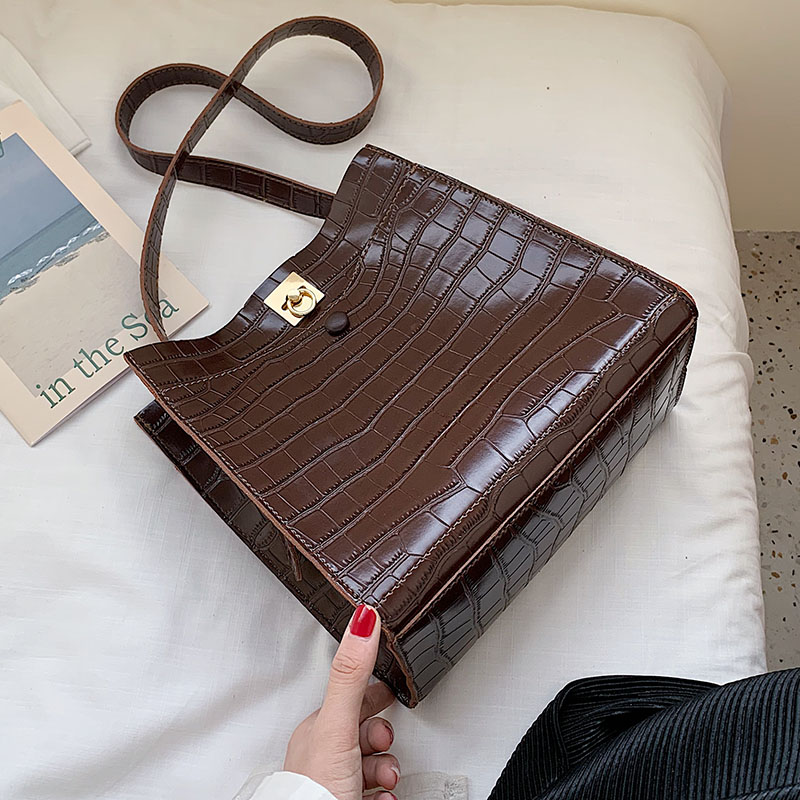 Stone Pattern PU Leather Crossbody Bags For Women 2019 Luxury Shoulder Messenger Bag Lady Quality Handbags Travel Hand Bag