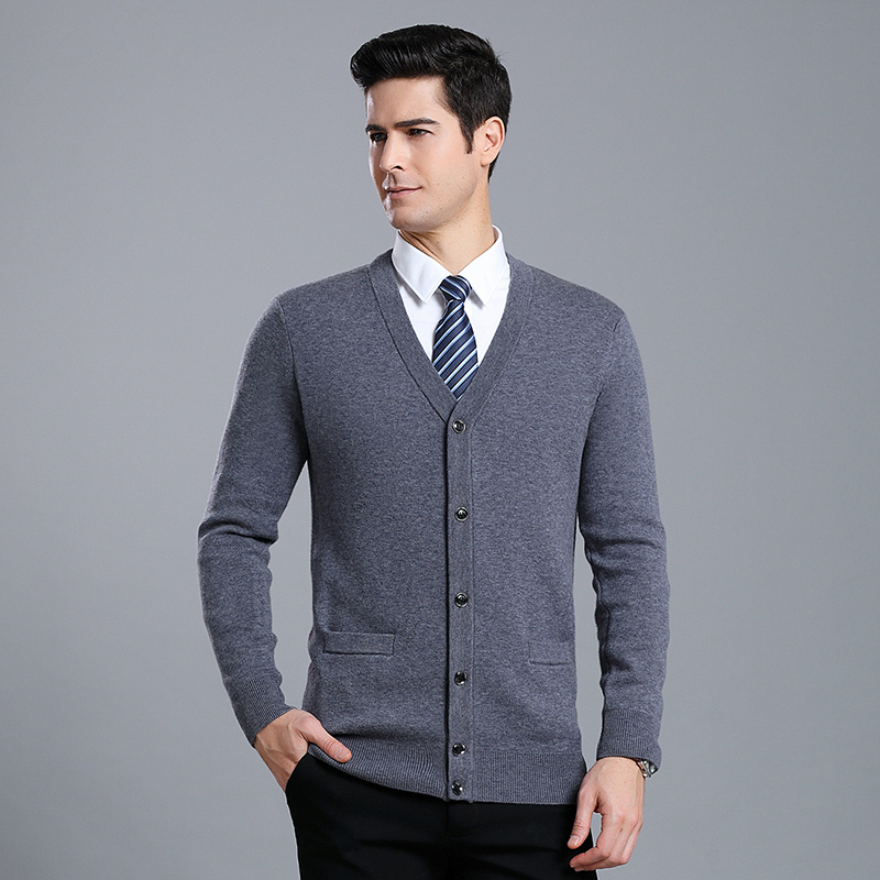 MACROSEA Autum&Winter Men's Wool Cardigan Formal Casual Men's Wool Sweaters Men Knitted Sleeveless Sweatercoat Vest Coat 7853