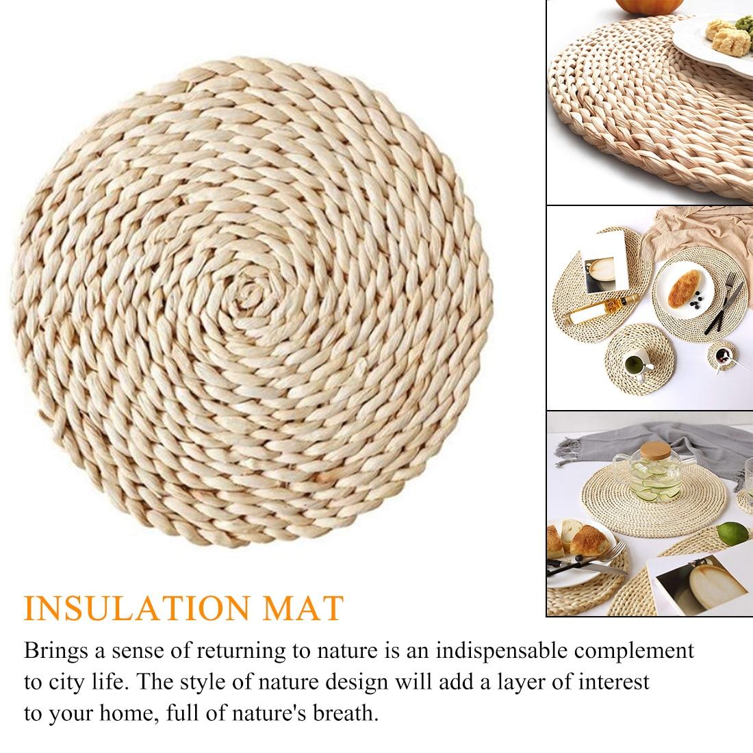 Coffee Drink Tea Cup Table Placemats Mug Coaster Corn Fur Woven