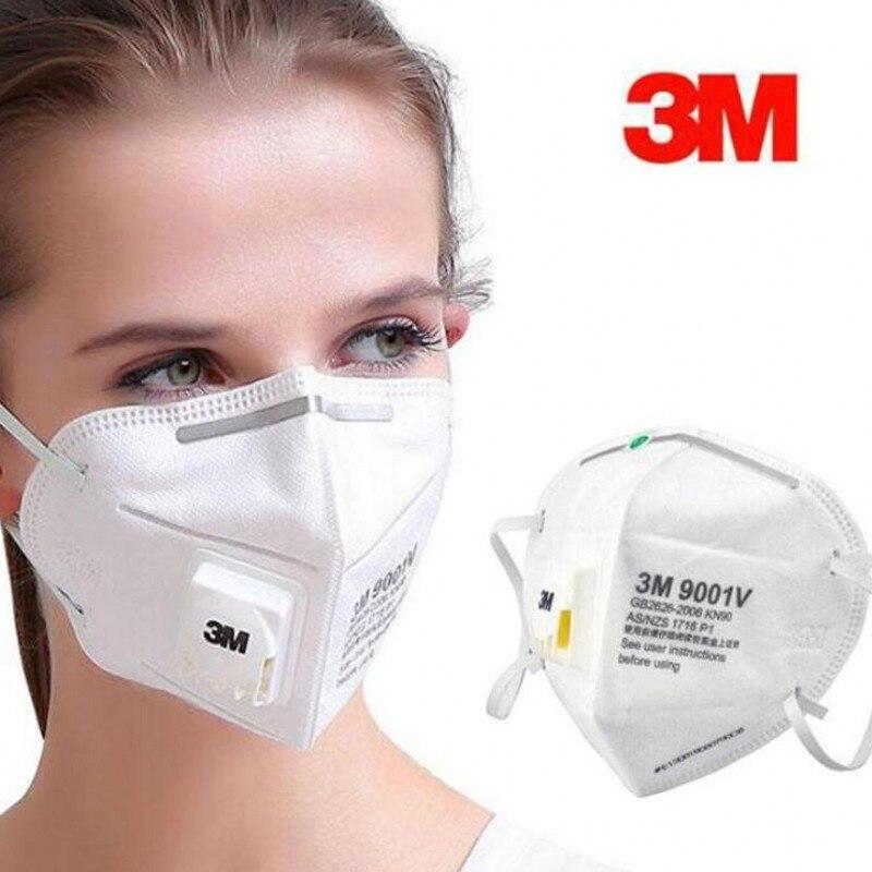 Safe 3M 9502V 9501V 9001V 9002V Mask Safety Protective FFP2 FFP3 N95 Mask Sanitary Work Respirator Filter Mask Anti Virus