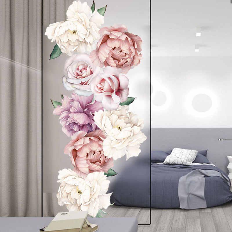 Пион цветок сочетание стикер стены ТВ фон стены гостиной спальни домашний Декор подарок ПВХ Высокое качество стикер s