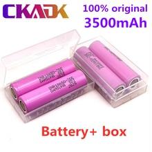 10 pces 100% original para 18650 3500mah 20a descarga inr18650 35e 3500mah 18650 li-ion bateria 3.7v recarregável