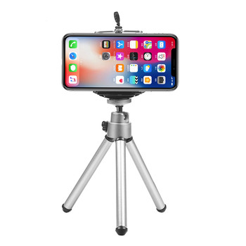 Universal Mini Aluminium Alloy 360 Degree Rotatable Stand Tripod Phone Holder for IPhone Samsung Universal Mobile Phone Holder image