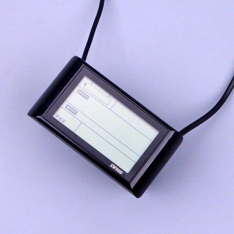 36V 48V SW900 prędkość cyfrowy Panel wyświetlacza LCD SW900 PAS do elektrycznego kontrolera roweru