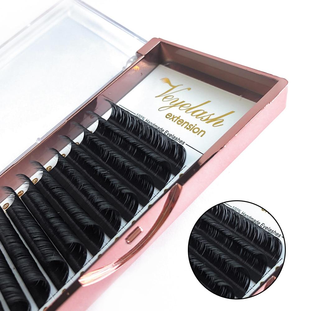 Veyelash Individual Eyelash Extension Mink Lashes Easy Fanning Russian Volume Lashes Synthetic Hair Soft Eyelash Extensions