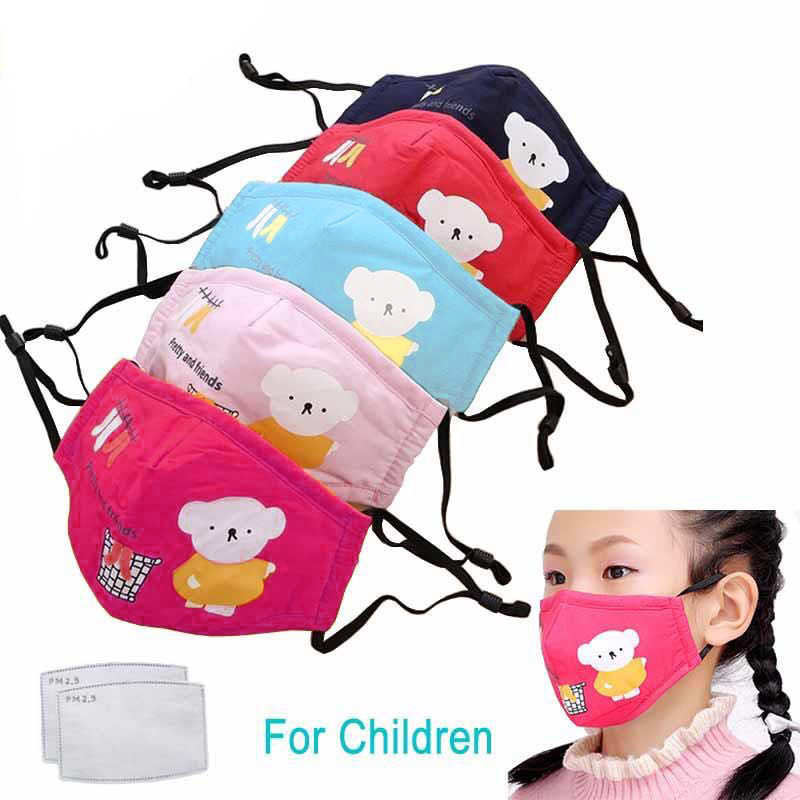 Kid Cartoon Cute Mask N95 Anti Dust Face Mouth Reusable Breathable Cotton Protective Pollution PM2.5 Anti-Dust Mouth Face Kids