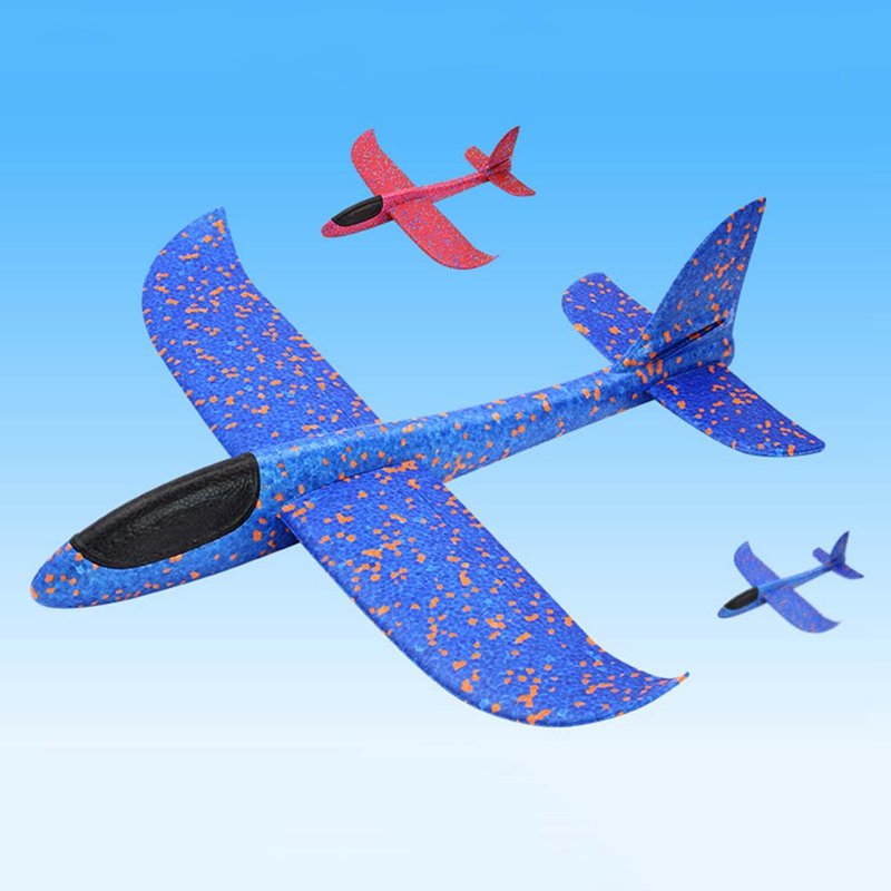 Outdoor Hand Throwing Plane Hand Throwing Gliding Model Toy Foam Aircraft Model Plane Toys Puzzle Model