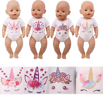 1 Pcs Unicorn Swimsuit Clothes Underwear Doll Accessories, Suitable For 18-inch American & 43cm Dolls, Girls' Toy Gifts