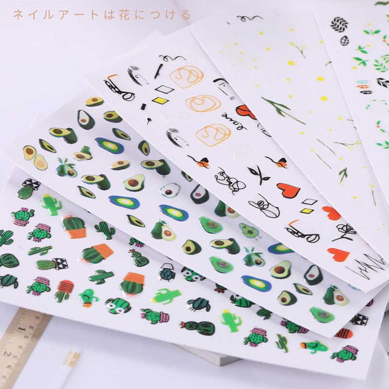Avocado Fragola Unghie artistiche Decalcomanie Degli Autoadesivi Autoadesivo Adesivo per la Progettazione Manicure Decorazioni Sticker per le Unghie Arcobaleno Bacche