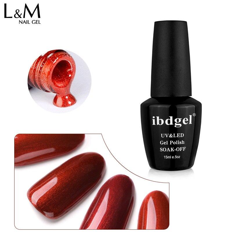 ibdgel luxuoso red cor das unhas de gel polones wholeset 6 cor real glitter vermelho laranja