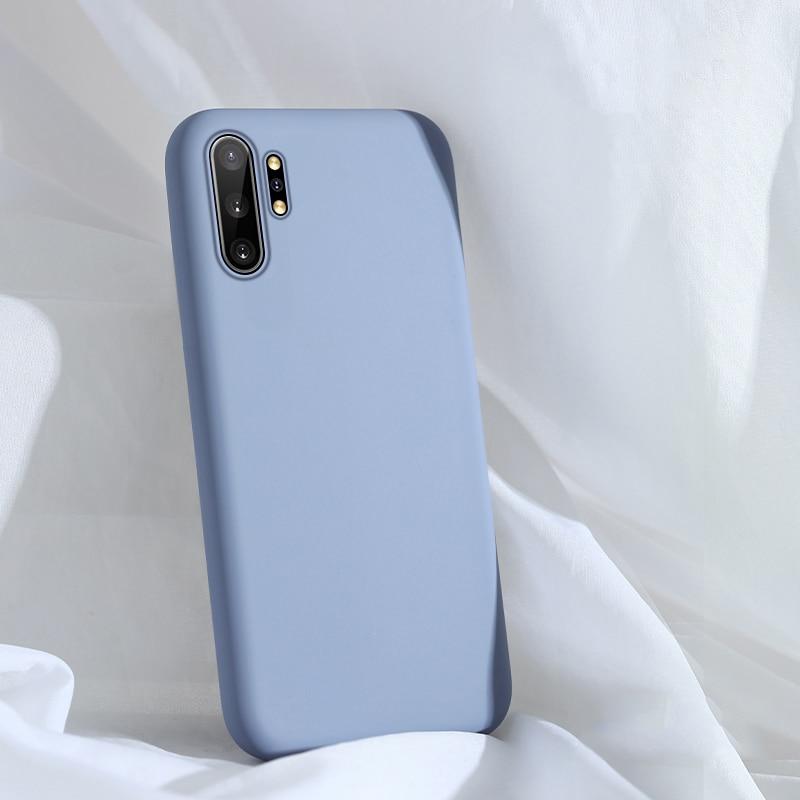 For Samsung Galaxy Note 10 Plus Case Liquid Silicone TPU Soft Cover For Samsung Galaxy Note 10 2019 Phone Cases Shockproof