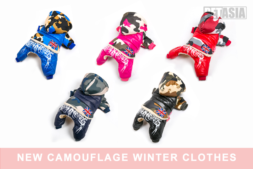 2017 Dog Pet Jacket Clothes Warm Outdoor Winter Coat Waterproof Cotton Fashion comfortable waterproof hat black pink Small XXL 201