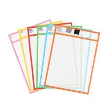 3 шт многоразовые сухие стираемые карманы прозрачные доски для рисования для записей и протирания сухая кисть сумка карман для файлов для обучения детей пастели