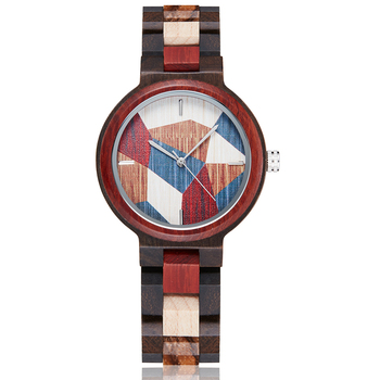 Natural Wood Watches Women Colorful Small Wooden Wristwatch Analog Quartz Female Bracelet Full Wooden Lady Retro Clock Reloj