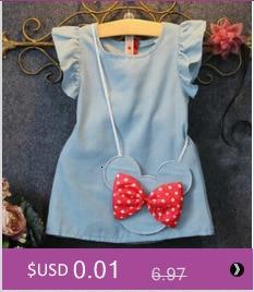 H84eb2350e9ac490fa4ec37be20349ed7R Girls Dress 2018 Summer Explosion Solid Color Denim Dress Cartoon Polka Dot Bow Cartoon Bunny Satchel Korean Baby Cute Dress