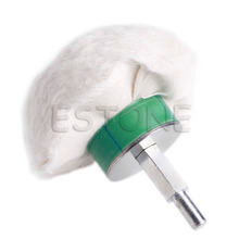 New 3 Cotton Dome Polishing Buffing Wheel Polish Drill 1/4 Shank Brush