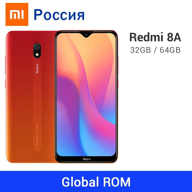 Global ROM Xiaomi Redmi 8A 3GB 32GB / 4GB 8 GB 64 5000mAh Snapdargon 439 Octa Core 12MP cámara trasera tipo-C teléfono móvil