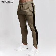Хлопковые Модные мужские повседневные брюки уличная мода для