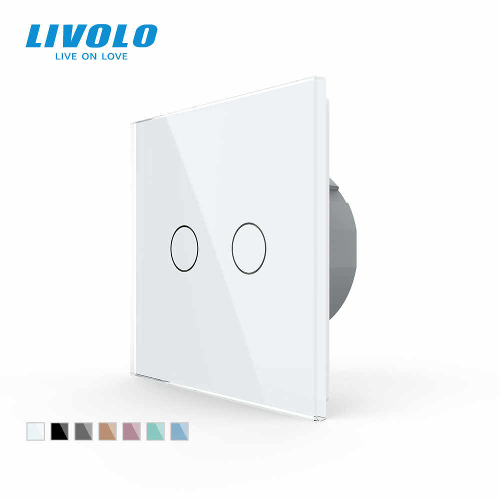Light Switch Glass Panel Touch Led Backlight Wall power sensor switch 2 Gang