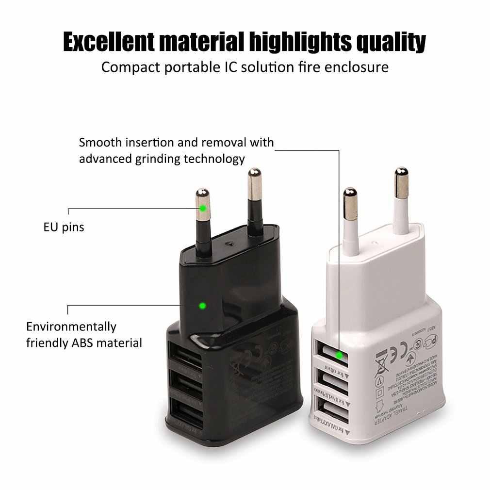 Cargador USB Dual 2a de carga rápida de viaje adaptador de enchufe de la UE cargador de pared portátil cable de teléfono móvil para iphone Samsung xiaomi
