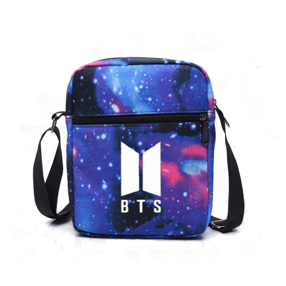 BTS Bulletproof Boys Related Products Celebrity Style Canvas Bag Over-the-shoulder Bag South Korea Star Canvas Bag Students