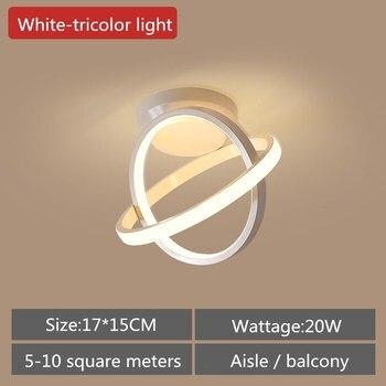 Artpad Modern Ceiling Lamp Hallway Aisle Balcony Nordic Wrought Iron LED Ceiling Light Indoor Lighting 20W Black White AC90-260V 7