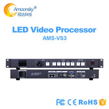 3 em 1 led controlador de vídeo processador usb embutido envio cartão com áudio dentro e para fora como huidu vp210 para tela de exibição de parede led