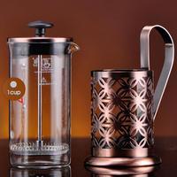 주방 악세사리 350ML 에스프레소 커피 메이커 Moka Pot 스테인레스 스틸 커피 컵 브루어 주전자 Pot Pro Barista|커피포트|   -