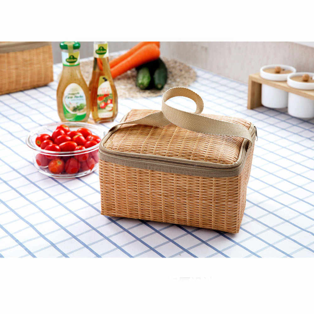 Portable Insulated Thermal Cooler Lunch Box Carry Tote Picnic Case Storage Bag Cold Food Container Cooler For Men Women lonchera