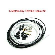 Pouvoir 5 Metres Motorcycle Diy Throttle Cable Kit Nipples Ferrules For Pit Dirt Bike