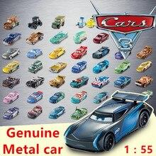 Disney Pixar cars 3 настоящий металлический автомобиль молния McQueen Круз Рамирез Джексон шторм 1:55 Модель автомобиль мальчик подарок на день рождения высокое качество