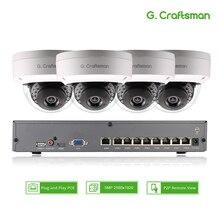 Kit intelligent de système de caméra IP POE 4ch 5MP dôme H.265 sécurité 8ch POE NVR intérieur anti Violence CCTV alarme vidéo P2P G. Artisan