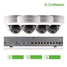 Smart 4ch 5MP POE IP Camera System Kit Dome H.265 Security 8ch POE NVR Indoor Violence proof CCTV Alarm Video P2P G.Craftsman