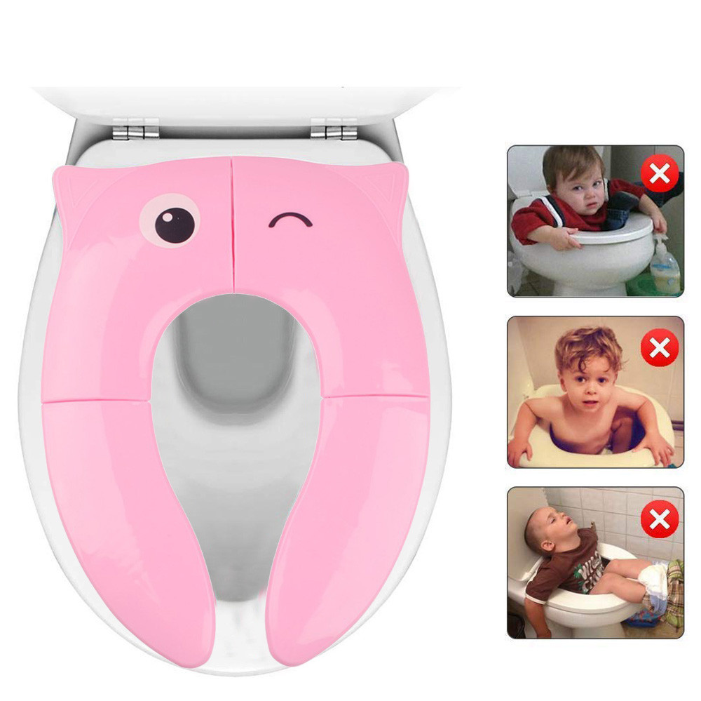 Seat-Covers Toilet Training-Seat Safty Foldable Potty Non-Slip-Pads Bathroom Travel Baby